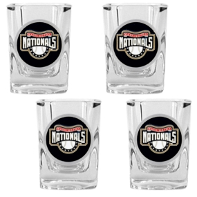 Washington Nationals 4pc Square Shot Glass Set