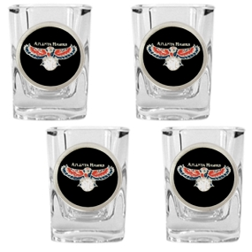 Atlanta Hawks 4pc Square Shot Glass Set