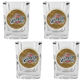 Cleveland Cavaliers 4pc Square Shot Glass Set