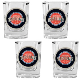 Detroit Pistons 4pc Square Shot Glass Set