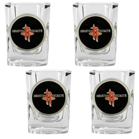 Houston Rockets 4pc Square Shot Glass Set