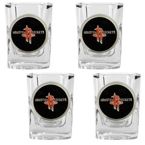 Houston Rockets 4pc Square Shot Glass Set