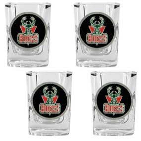 Milwaukee Bucks 4pc Square Shot Glass Set