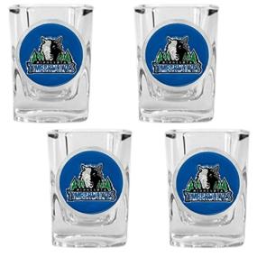 Minnesota Timberwolves 4pc Square Shot Glass Set