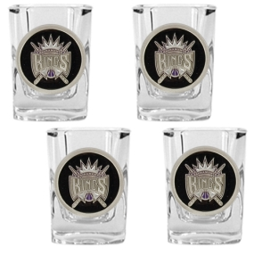 Sacramento Kings 4pc Square Shot Glass Set