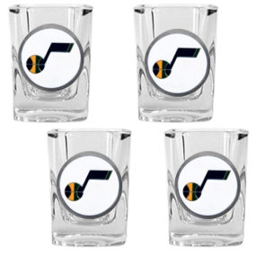 Utah Jazz 4pc Square Shot Glass Set