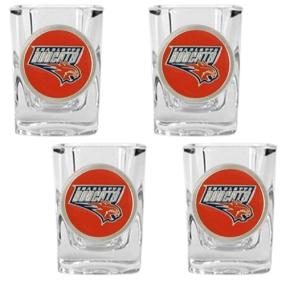 Charlotte Bobcats 4pc Square Shot Glass Set