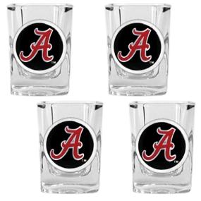 Alabama Crimson Tide 4pc Square Shot Glass Set