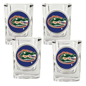 Florida Gators 4pc Square Shot Glass Set