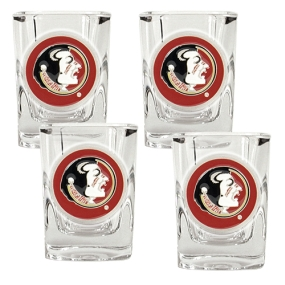 Florida State Seminoles 4pc Square Shot Glass Set
