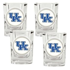 Kentucky Wildcats 4pc Square Shot Glass Set
