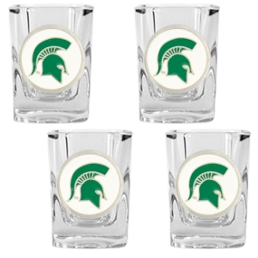 Michigan State Spartans 4pc Square Shot Glass Set