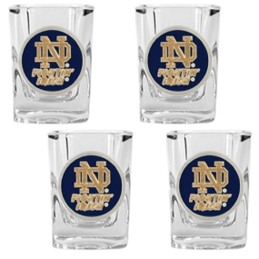 Notre Dame Fighting Irish 4pc Square Shot Glass Set