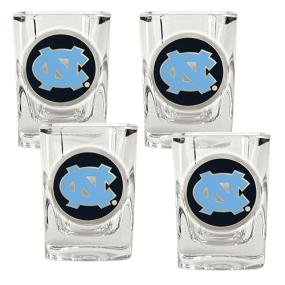 UNC Tar Heels 4pc Square Shot Glass Set