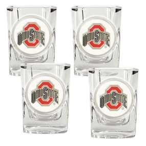 Ohio State Buckeyes 4pc Square Shot Glass Set