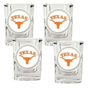 Texas Longhorns 4pc Square Shot Glass Set