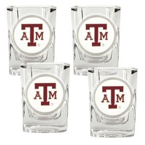 Texas A&M Aggies 4pc Square Shot Glass Set