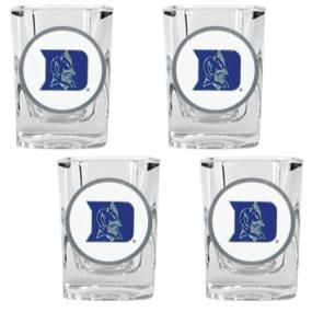 Duke Blue Devils 4pc Square Shot Glass Set