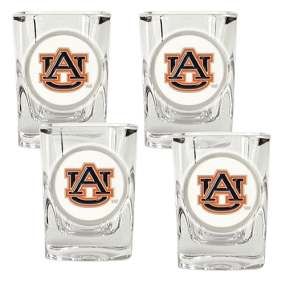 Auburn Tigers 4pc Square Shot Glass Set