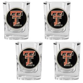 Texas Tech Red Raiders 4pc Square Shot Glass Set