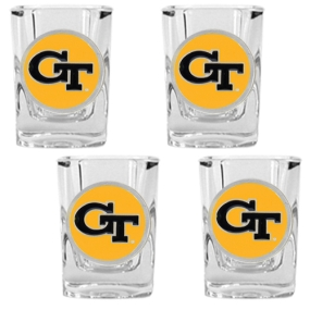 Georgia Tech Yellow Jackets 4pc Square Shot Glass Set