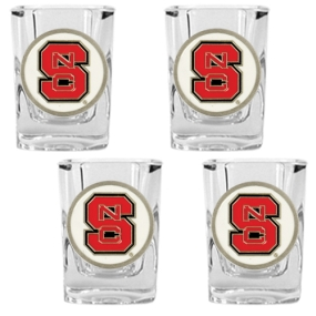 N.C. State Wolfpack 4pc Square Shot Glass Set