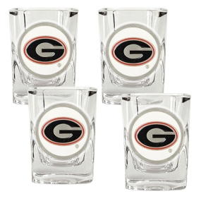 Georgia Bulldogs 4pc Square Shot Glass Set