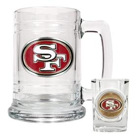 San Francisco 49ers Boilermaker Set