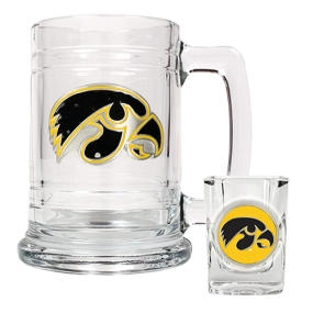 Iowa Hawkeyes Boilermaker Set