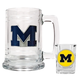 Michigan Wolverines Boilermaker Set