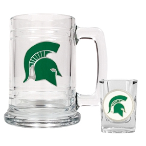 Michigan State Spartans Boilermaker Set