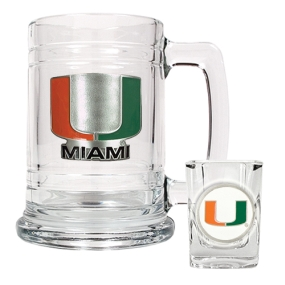 Miami Hurricanes Boilermaker Set