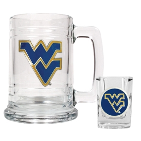 West Virginia Mountaineers Boilermaker Set
