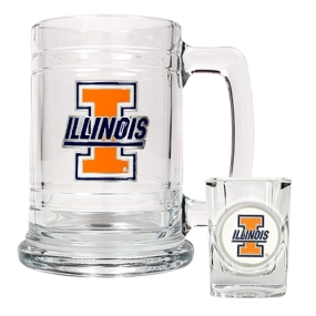 Illinois Fighting Illini Boilermaker Set