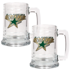 Dallas Stars 2pc 15oz Glass Tankard Set- Primary Logo