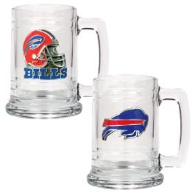 Buffalo Bills 2pc 15oz Glass Tankard Set