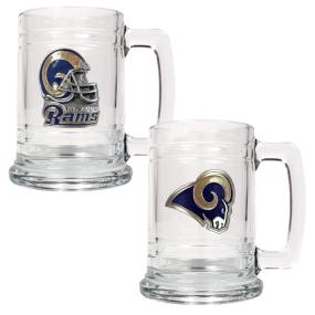 Saint Louis Rams 2pc 15oz Glass Tankard Set