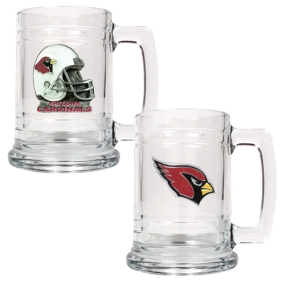 Arizona Cardinals 2pc 15oz Glass Tankard Set