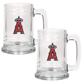 Anaheim Angels 2pc 15oz Glass Tankard Set- Primary Logo