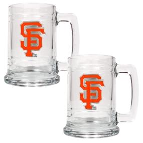 San Francisco Giants 2pc 15oz Glass Tankard Set- Primary Logo