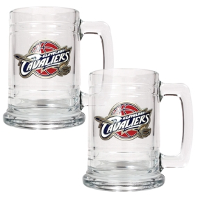 Cleveland Cavaliers 2pc 15oz Glass Tankard Set