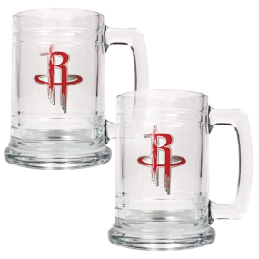 Houston Rockets 2pc 15oz Glass Tankard Set