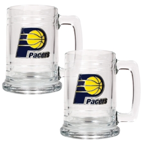 Indiana Pacers 2pc 15oz Glass Tankard Set