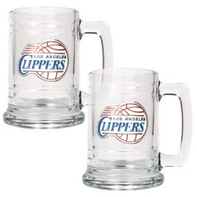 Los Angeles Clippers 2pc 15oz Glass Tankard Set