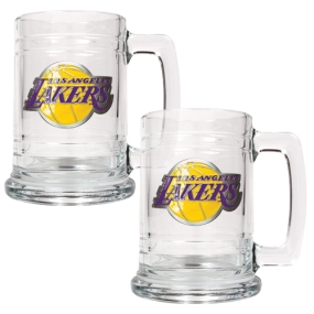 Los Angeles Lakers 2pc 15oz Glass Tankard Set