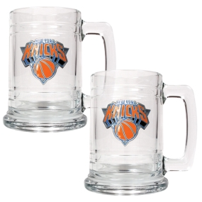 New York Knicks 2pc 15oz Glass Tankard Set