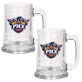 Phoenix Suns 2pc 15oz Glass Tankard Set