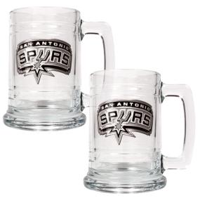 San Antonio Spurs 2pc 15oz Glass Tankard Set