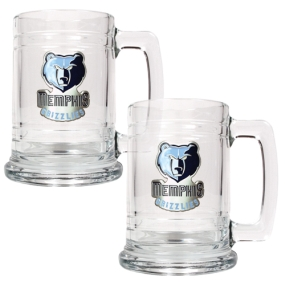 Memphis Grizzlies 2pc 15oz Glass Tankard Set
