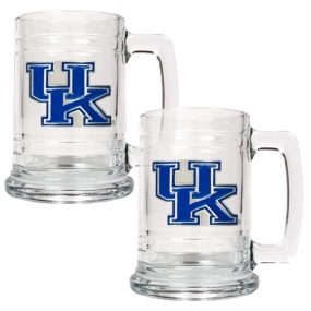 Kentucky Wildcats 2pc 15oz Glass Tankard Set